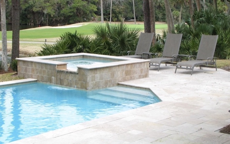 12 West Beach Lagoon, Hilton Head - Camp Pool Builders